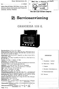 B-O Grandessa 508K Super Receiver Service Manual