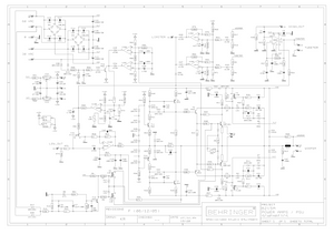 BEHRINGER B215A POWER AMPS rev F Schematic