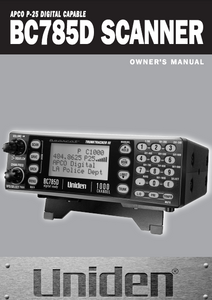 BEARCAT BC-785D Scanner Owner's Manual
