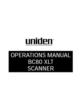 BEARCAT BC-80XLT Scanner Operations Manual