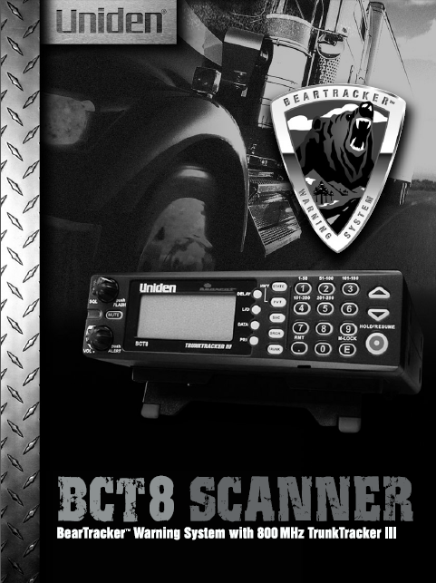 BEARCAT BCT8 Scanner Owner's Manual