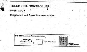 BOGEN Model TMC-4 Telemedia Controller Instruction Manual