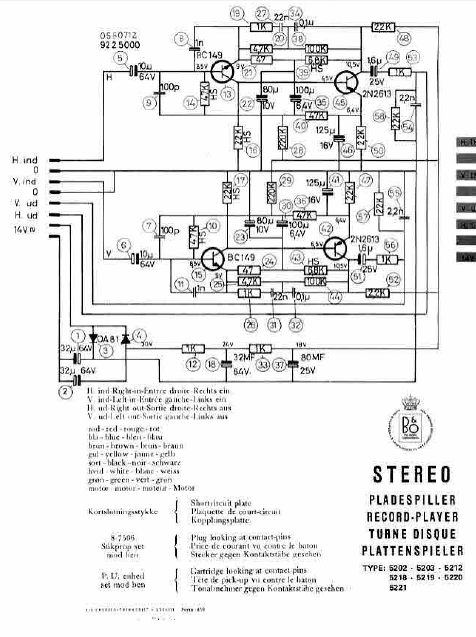 B.O 5202-5221 Record Player Schematics