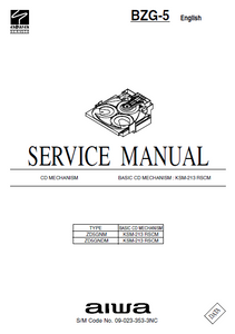 AIWA BZG-5 Basic CD Mechanism ZD5GNM Service Manual