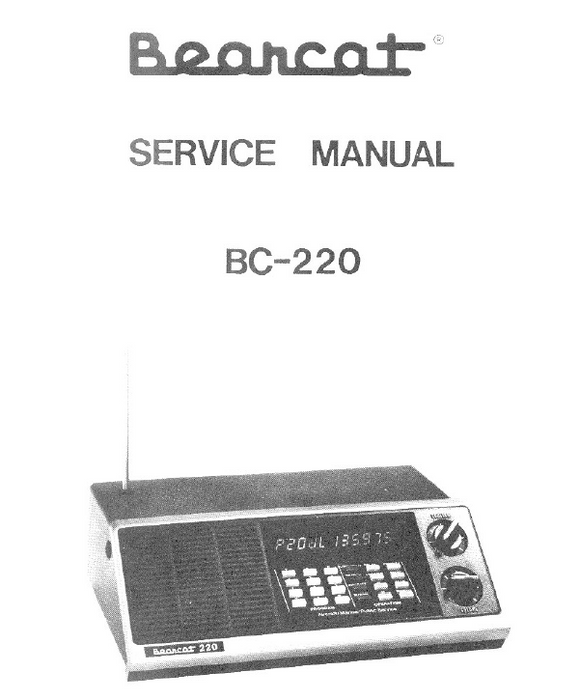 BEARCAT BC220 Telescoping Antenna Service Manual