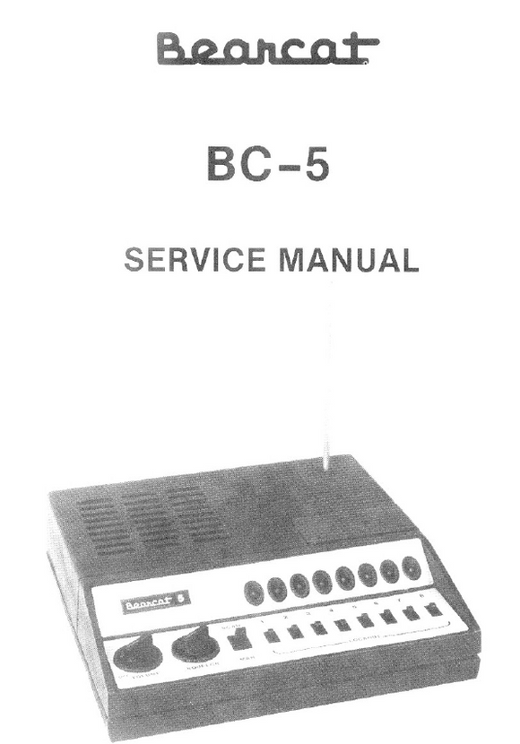 Bearcat BC-5 Service Manual