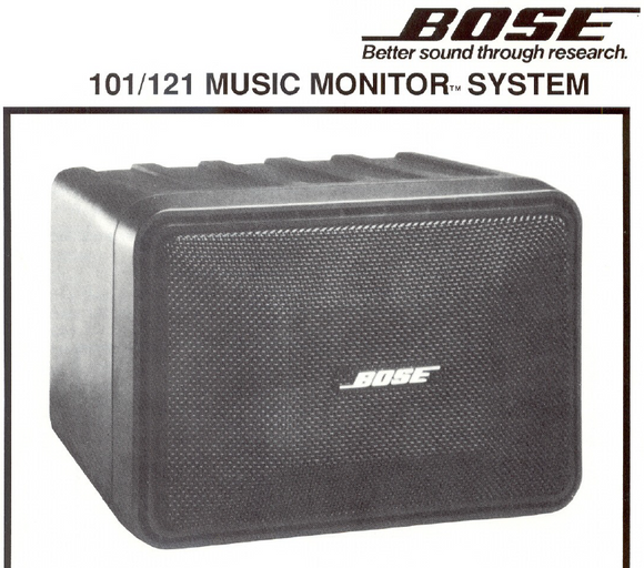 BOSE 101-121 Music Monitor Service Manual