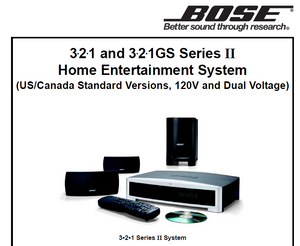 bose 321 series ii service manual best setting instruction guide u2022 rh ourk9 co Bose 321 Series III Bose 321 Home Entertainment Systems