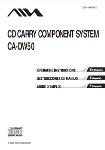 AIWA CA-DW50 Component System Operation Manual