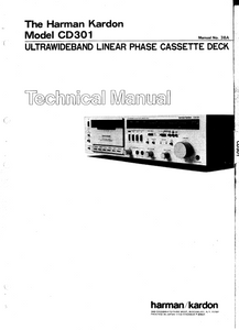 Harman Kardon CD301 Ultrawideband Linear Phase Cassette Deck Technical Service Manual