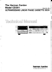 Harman Kardon CD391 Ultrawideband Linear Phase Cassette Deck Technical Service Manual