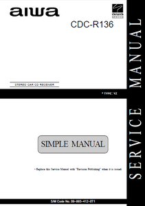 AIWA Simple CDC-R136 Stereo Car Service Manual