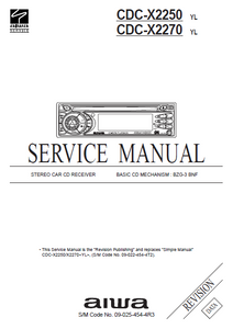 AIWA CDC-X2250 Revision Stereo Car CD Receiver Service Manual