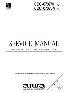 AIWA CDC-X707M Simple Stereo Car CD Receiver Service Manual
