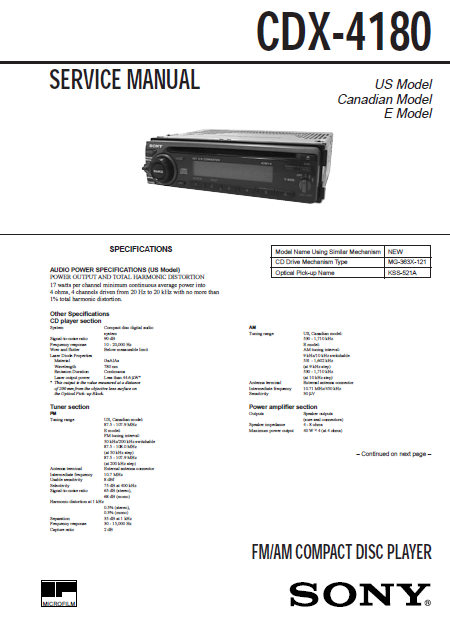 AIWA CDX-4180 Compact Disc Player with Schematics