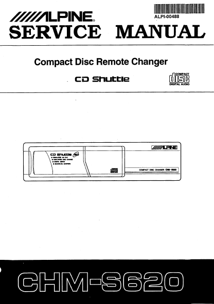 ALPINE CHM-S620 CD Remote Changer Service Manual