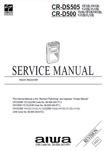 AIWA CR-D500-DS505 Radio Receiver Revision Service Manual