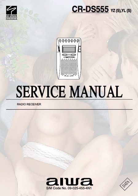 AIWA CR-DS555 Radio Receiver Service Manual
