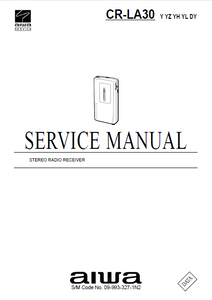 AIWA CR-LA30 Stereo Radio Receiver Service Manual