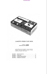 AKAI Model CS-33D Cassette Stereo Tape Deck Service Manual