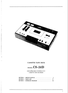 AKAI Model CS-34D Cassette Tape Deck Service Manual