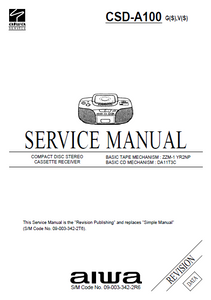 AIWA CSD-A100 Revision Compact Disc Service Manual