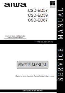 AIWA CSD-ED57 Simple Compact Disc Recorder Service Manual