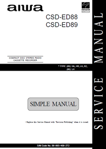AIWA CSD-ED88 Simple Compact Disc Recorder Service Manual
