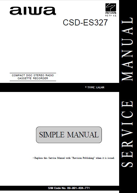 CSD-ES327 AIWA AUDIO Service Manual