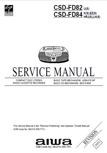 AIWA CSD-FD82 Revision Compact Disc Recorder Service Manual