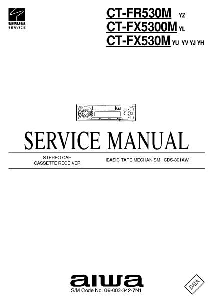 AIWA CT-FR530M Stereo Receiver Service Manual