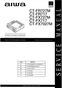 AIWA CT-FR717 Stereo Receiver Service Manual