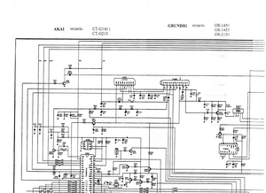 AKAI Model CT G140-G215 Schematics