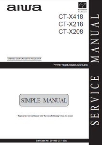 AIWA CT-X418 Simple Stereo Car Receiver Service Manual