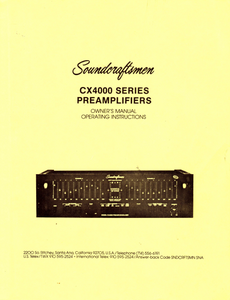 AIWA Soundcraftsman CX4000 Series Preamplifiers Owner's Manual
