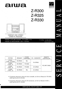 AIWA Z-R300 Compact Disc Receiver Service Manual