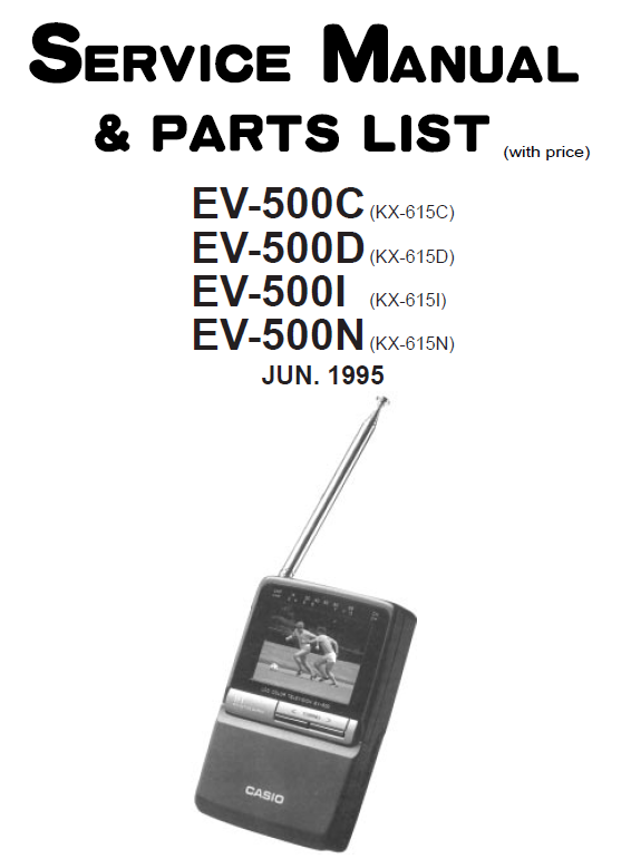 Casio EV500C-500D-500I-500N Service Manual