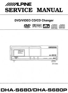 ALPINE DHA S680-S680P CD Changer Service Manual
