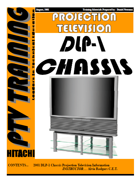 HITACHI DLP-1 Chassis Projection Television Service Manual