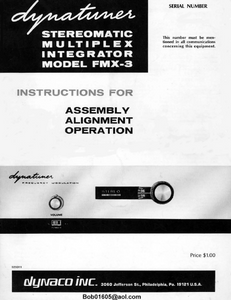 DYNACO FMX-3 Multiplex Integrator Operations Manual