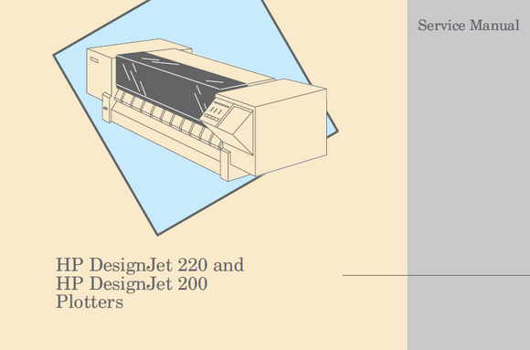 Hewlett Packard Designjet 220 Series Service Manual
