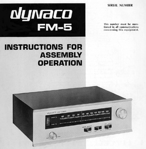 Dynaco FM-5 Operations Manual
