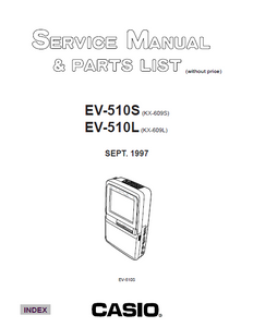 Audio TO Clearcom-EV-510SL casio Service Manual