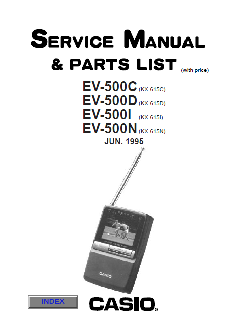Audio TO Clearcom-EV500CDI casio Service Manual