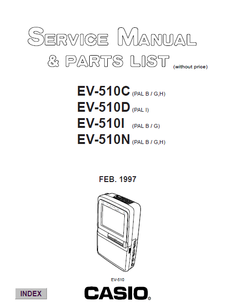 Audio TO Clearcom-EV510C casio Service Manual
