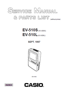Audio TO Clearcom-EV510SL casio Service Manual