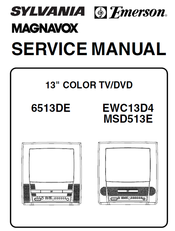 Emerson EWC13D4 Service Manual