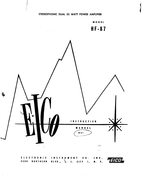 EICO Model HF-87 Instruction Manual