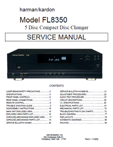 Harman Kardon Model FL8350 Compact Disc Changer Service Manual