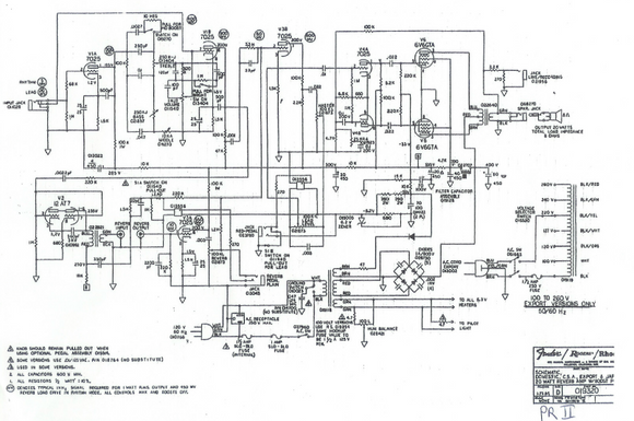 Fender Schematics – Electronic Service Manuals on